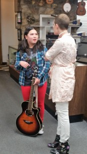 Talking shop. (c) 2016 Girls Guitar School. All rights reserved.